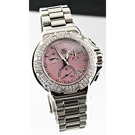 STUNNING TAG HEUER FORMULA 1 CAC1311.BA0852 DIAMOND ACCENTED CHRONO PINK WATCH