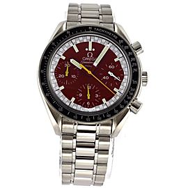 OMEGA SPEEDMASTER MICHAEL SCHUMACHER 3510.61 AUTOMATIC CHRONOGRAPH RED WATCH BOX