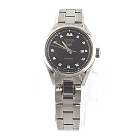 TAG HEUER LADIES CARRERA WV2410.BA0793 AUTOMATIC DIAMOND BLACK WATCH