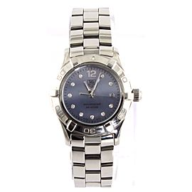 TAG HEUER WAF1419.BA0824 LADIES AQUARACER DIAMOND BLUE PEARL WATCH