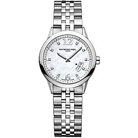 RAYMOND WEIL FREELANCER 5670-ST-05985 DIAMOND PEARL LADIES WATCH