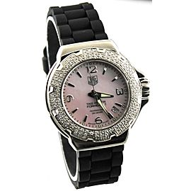 AUTHENTIC TAG HEUER WOMEN'S FORMULA 1 WAC1216.BT0711 PINK PEARL DIAMOND WATCH