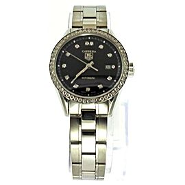 TAG HEUER LADIES CARRERA WV2412.BA0793 DIAMOND BLACK STEEL SWISS WATCH
