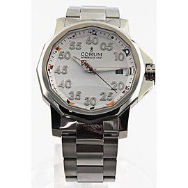 AUTHENTIC CORUM ADIMRAL'S CUP CMA08203374 MENS AUTOMATIC WHITE STEEL 40MM WATCH