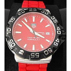 TAG HEUER FORMULA 1 WAH1112.BT0706 RED RUBBER SWISS QUARTZ WATCH