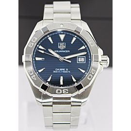 TAG HEUER AQUARACER WAY2112.BA0910 AUTOMATIC CALIBRE 5 MENS BLUE WATCH