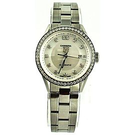TAG HEUER LADIES CARRERA WV2413.BA0793 DIAMOND MOTHER OF PEARL WATCH