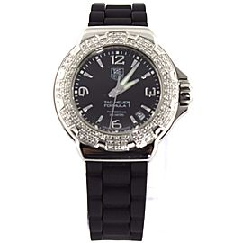 ORIGINAL TAG HEUER FORMULA 1 WAC1214.BT0711 DIAMOND SWISS LADIES BLACK WATCH