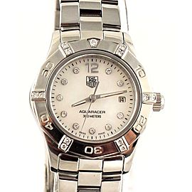 TAG HEUER AQUARACER WAF141G.BA0813 LADIES MOTHER PEARL DIAMOND WATCH