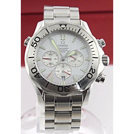 ORIGINAL OMEGA SEAMASTER 2589.30 LARGE SILVER CHRONOGRAPH AUTOMATIC MENS WATCH