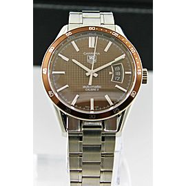 TAG HEUER CARRERA MEN'S AUTOMATIC BROWN STEEL WATCH WV211N.BA0787