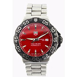 AUTHENTIC TAG HEUER FORMULA 1 WAH1112.BA0850 SWISS RED QUARTZ STEEL WATCH & BOX