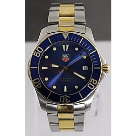 TAG HEUER AQUARACER WAB1120.BB0802 SWISS QUARTZ GOLD TONE BLUE SUBMARINER WATCH