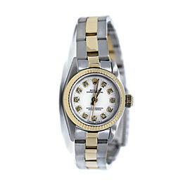 Rolex Oyster Perpetual Diamond 18K/Stainless Steel Watch 67193