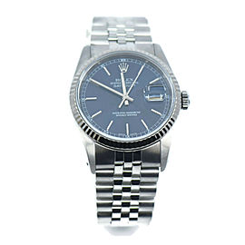 Rolex Datejust Blue Dial Stainless Steel Watch 16234