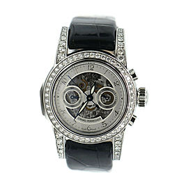 Girard Perregaux Diamond Chronograph Stainless Steel Watch 8046
