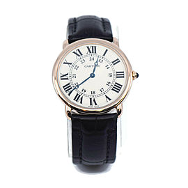 Cartier Ronde Louis 18K Rose Gold Watch W6800251