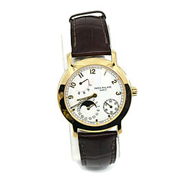 Patek Philippe Calatrava Moon Phase 18K Yellow Gold Watch 5055J-001