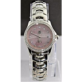 TAG HEUER WOMENS LINK WJF131E.BA0572 DIAMOND PINK MOTHER OF PEARL WATCH