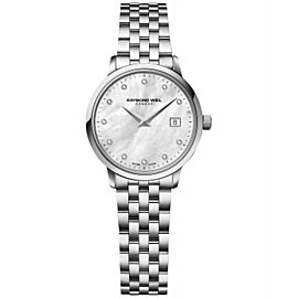 RAYMOND WEIL TOCATTA 5988-ST-97081 DIAMOND PEARL LADIES SWISS WATCH