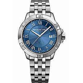 RAYMOND WEIL TANGO 8160-ST-00508 MEN'S BLUE 41MM LUXURY DIVER WATCH