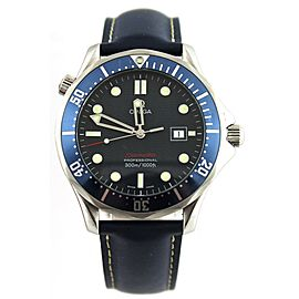 OMEGA SEAMASTER PROFESSIONAL 2221.80 BOND BLUE RUBBER MENS LARGE WATCH