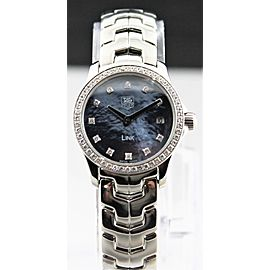 TAG HEUER LADIES LINK WJF1419.BA0589 SWISS QUARTZ DIAMOND PEARL WATCH