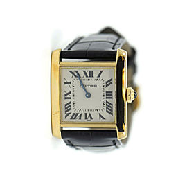 Cartier Tank Francaise 18K Yellow Gold Watch 1821