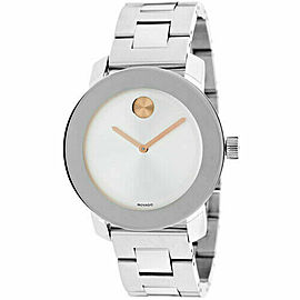 MOVADO BOLD 3600084 MIRROR DIAL SWISS QUARTZ STEEL LADIES WATCH WATCH