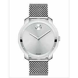 MOVADO BOLD 3600241 SILVER DIAL SWISS QUARTZ STEEL LADIES WATCH