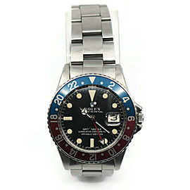 Rolex GMT-Master Fat Font MK1 Dial Stainless Steel Watch 1675