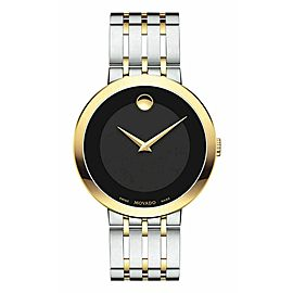 MOVADO ESPERANZA 0607058 BLACK MUSEUM TWO TONE SWISS QUARTZ WATCH