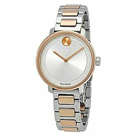 MOVADO BOLD 3600504 ROSE GOLD TONE LADIES SUGAR DIAL SWISS WATCH