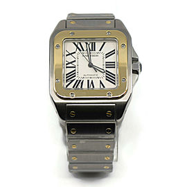 Cartier Santos 100 Large 18K/Stainless Steel Watch W200728G