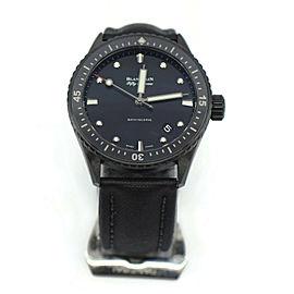 Blancpain Fifty Fathoms Bathyscaphe Black Ceramic Watch 5000-0130
