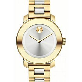 MOVADO BOLD 3600129 SILVER DIAL SWISS QUARTZ LADIES TWO TONE WATCH
