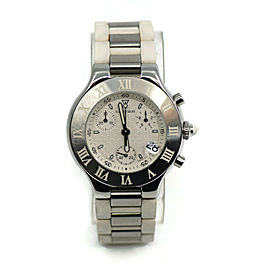 Cartier Must 21 Chronograph Stainless Steel Watch 2424