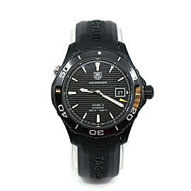 Tag Heuer Aquaracer 500M Black Ceramic Titanium Watch WAK2180