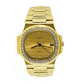 Patek Philippe Nautilus Factory Diamond Gubelin 18K Yellow Gold Watch 3800/3
