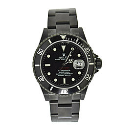 Rolex Submariner Bamford DLC Stainless Steel Watch 16610T