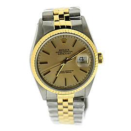 Rolex Datejust 18K/Stainless Steel Watch 16233