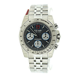 Tudor Sport Chronograph Grey Dial Stainless Steel Watch 20300