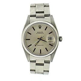 Rolex Oysterdate Precision Stainless Steel Watch 6494
