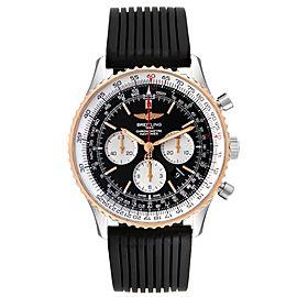 Breitling Navitimer 01 46mm Steel Rose Gold Black Dial Mens Watch UB0127