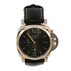 Panerai Luminor 1950 GMT 8 Days 18K Rose Gold Watch PAM576