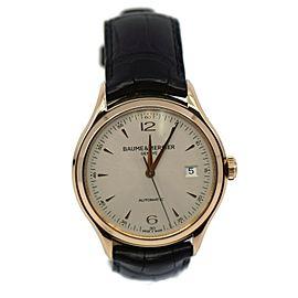 Baume & Mercier Clifton 18K Rose Gold Watch 65719