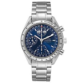 Omega Speedmaster Day-Date Blue Dial Steel Mens Watch