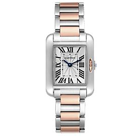 Cartier Tank Anglaise Small Steel Rose Gold Ladies Watch W5310036