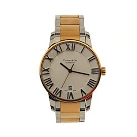Tiffany & Co. Atlas Dome Automatic Watch Stainless Steel and Rose Gold 37