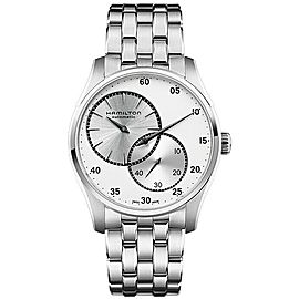 BRAND NEW HAMILTON JAZZMASTER REGULATOR H42615153 SILVER STAINLESS STEEL WATCH